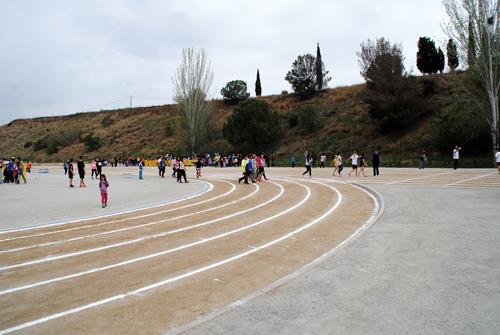 La pista d'atletisme durant la fase local // AP