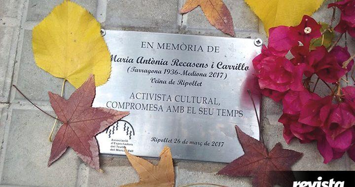 Placa Maria Antonia Recasens