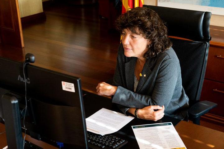 Jordà en un moment de la jornada en línia celebrada amb motiu del Dia de la Dona Rural