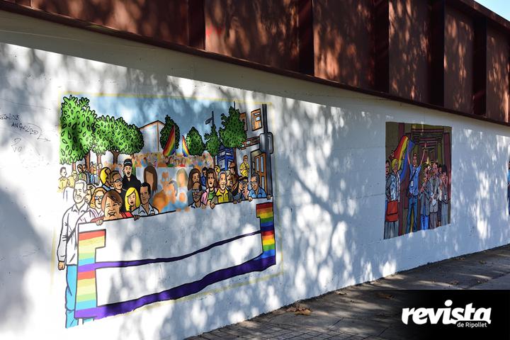 Mural LGTBI Riu Ripoll
