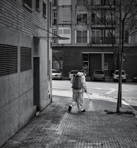 Desinfectant els carrers